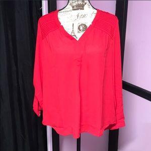 Black Rainn NWT red blouse size L